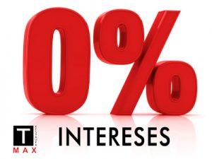 0 por ciento de intereses en los trabajos que realicemos