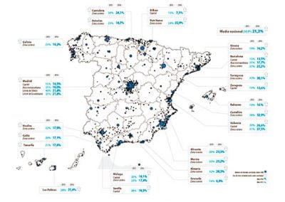 España acumula 340.000 viviendas nuevas vacías, el 21,3% de las terminadas desde 2008