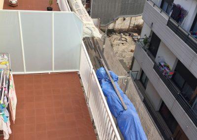 Vista lateral Impermabilización de cubiertas