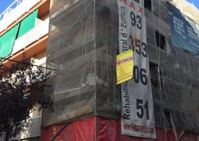 Rehabilitación fachada con andamios