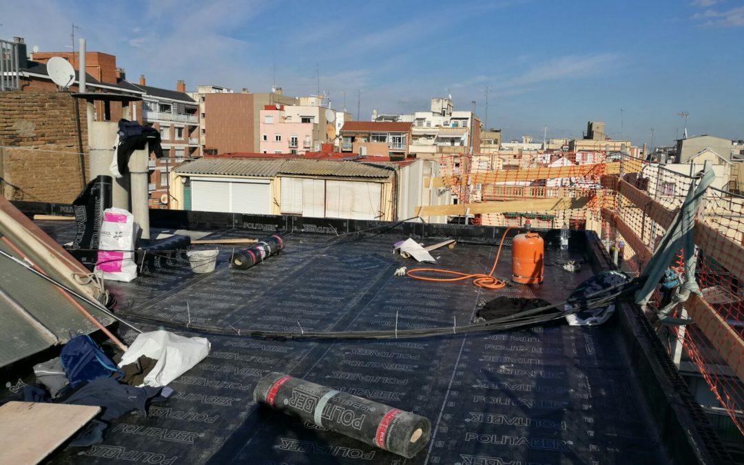 Calle Sardenya, 300 Rehabilitación fachada posterior y cubierta