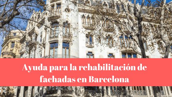 Ayuda en la rehabilitación de fachadas en Barcelona