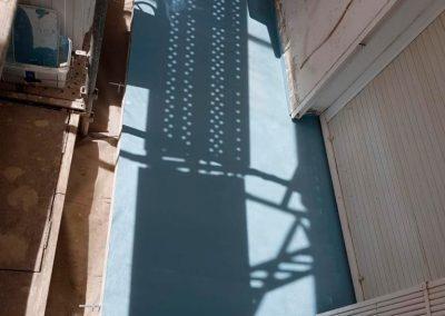 Vista Balcón con Impermeabilización