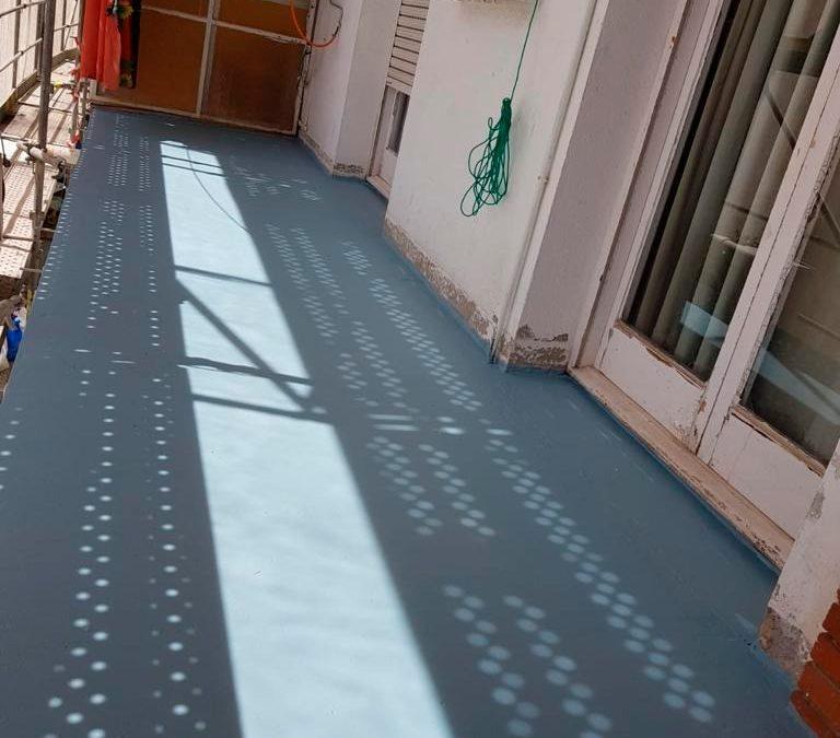 Impermeabilizacion de Balcones y Forjados de Cubierta