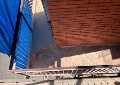 Pavimento sin colocar en Balcón