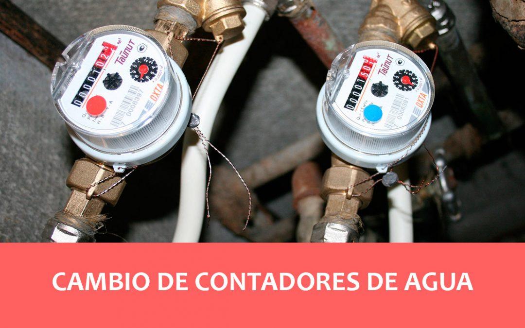 Cambio obligatorio por ley de contadores de agua de más de 12 años