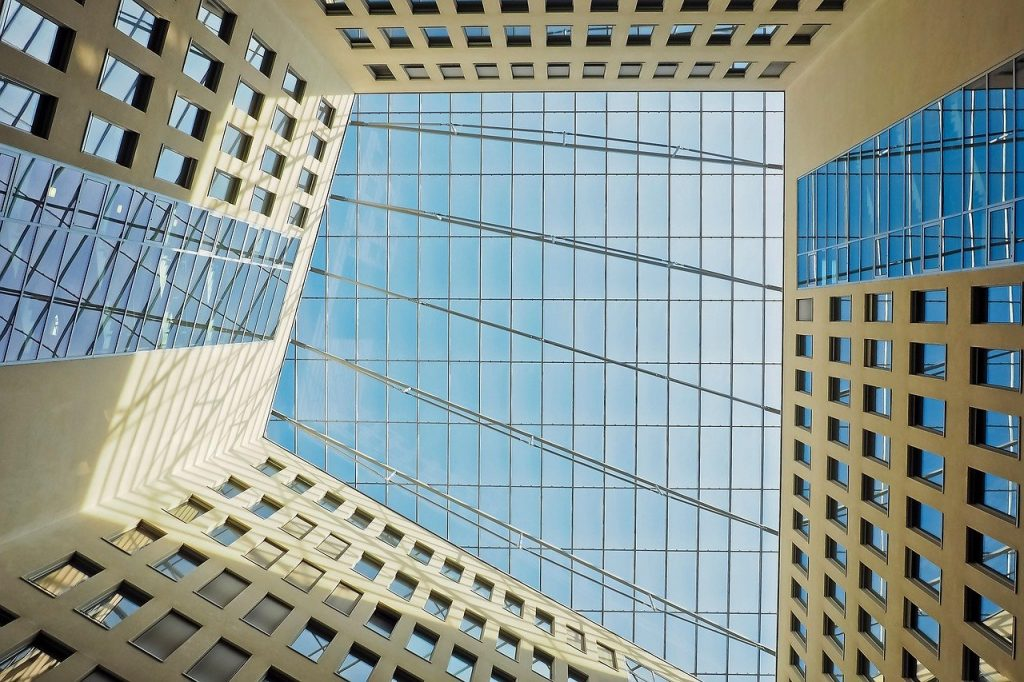 techo edificio acristalado