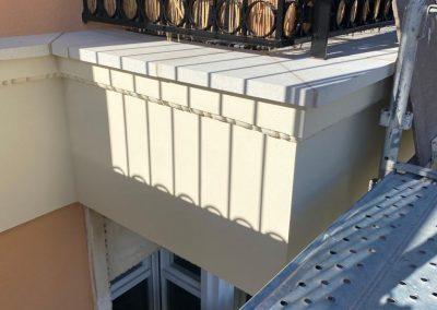 Rehabilitar cornisa exterior de fachada