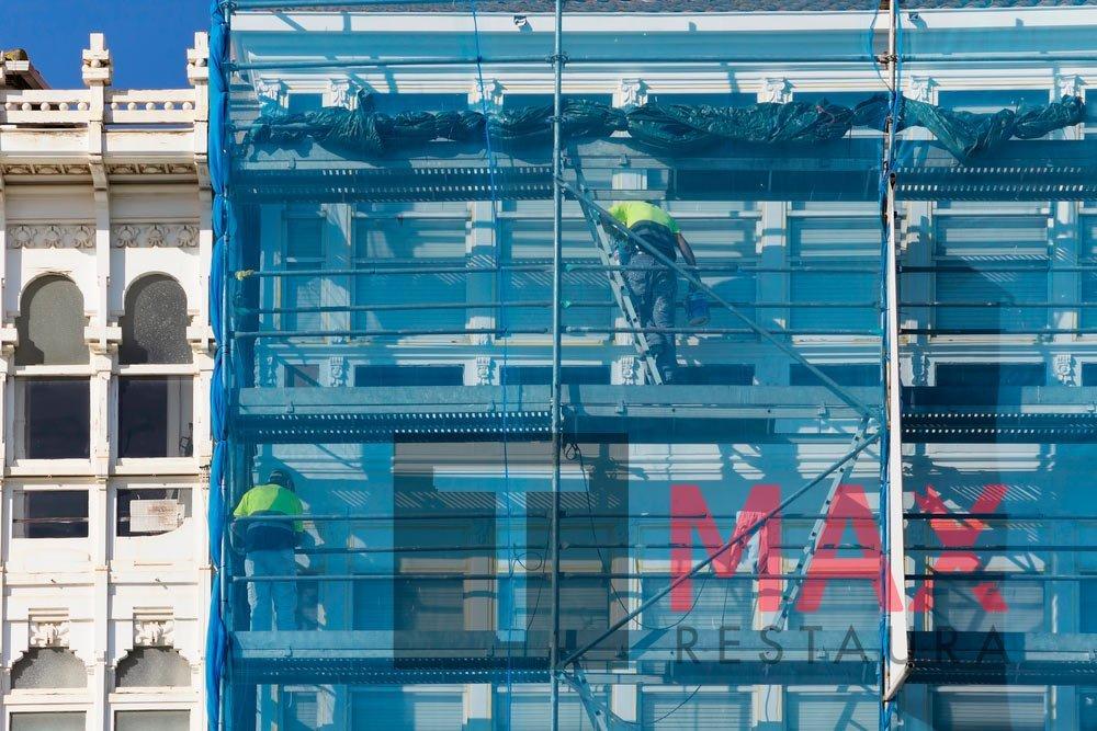 rehabilitación de fachada de grandes edificio