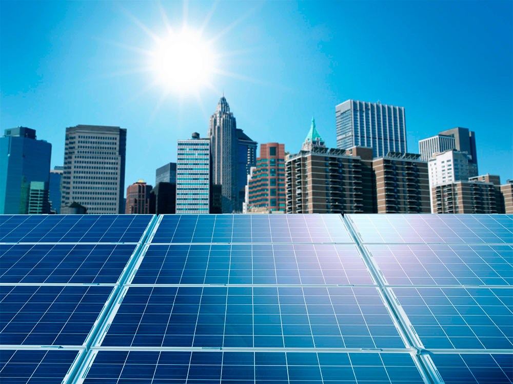 paneles solares en tejados