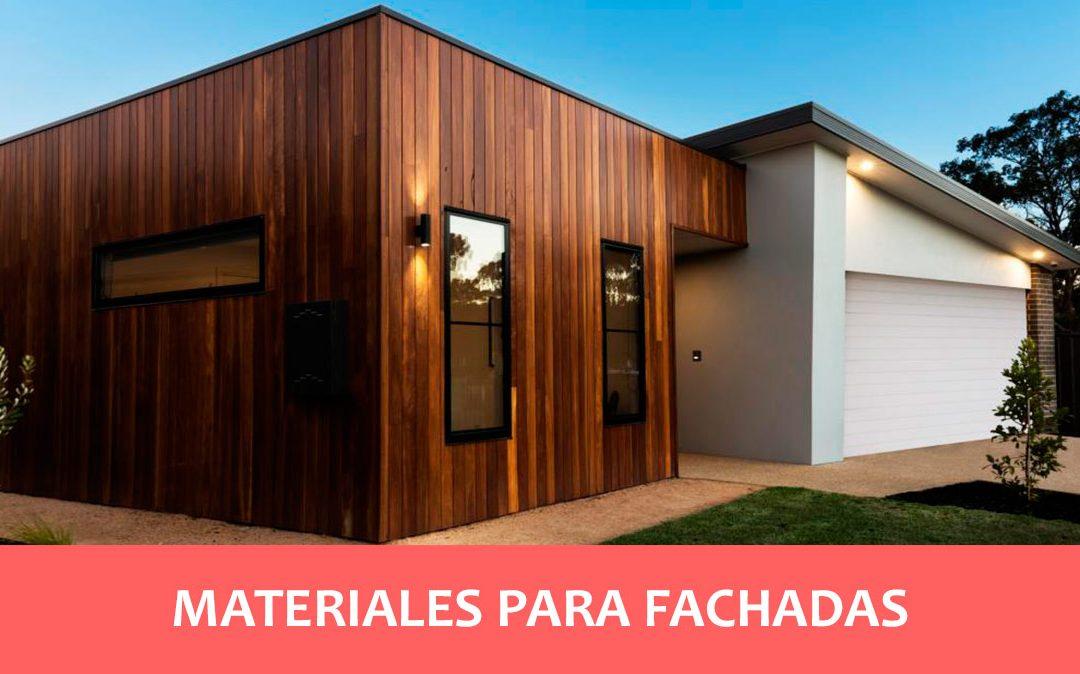tipos de materiales en fachadas