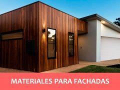 ¿Qué material se puede utilizar para las fachadas?